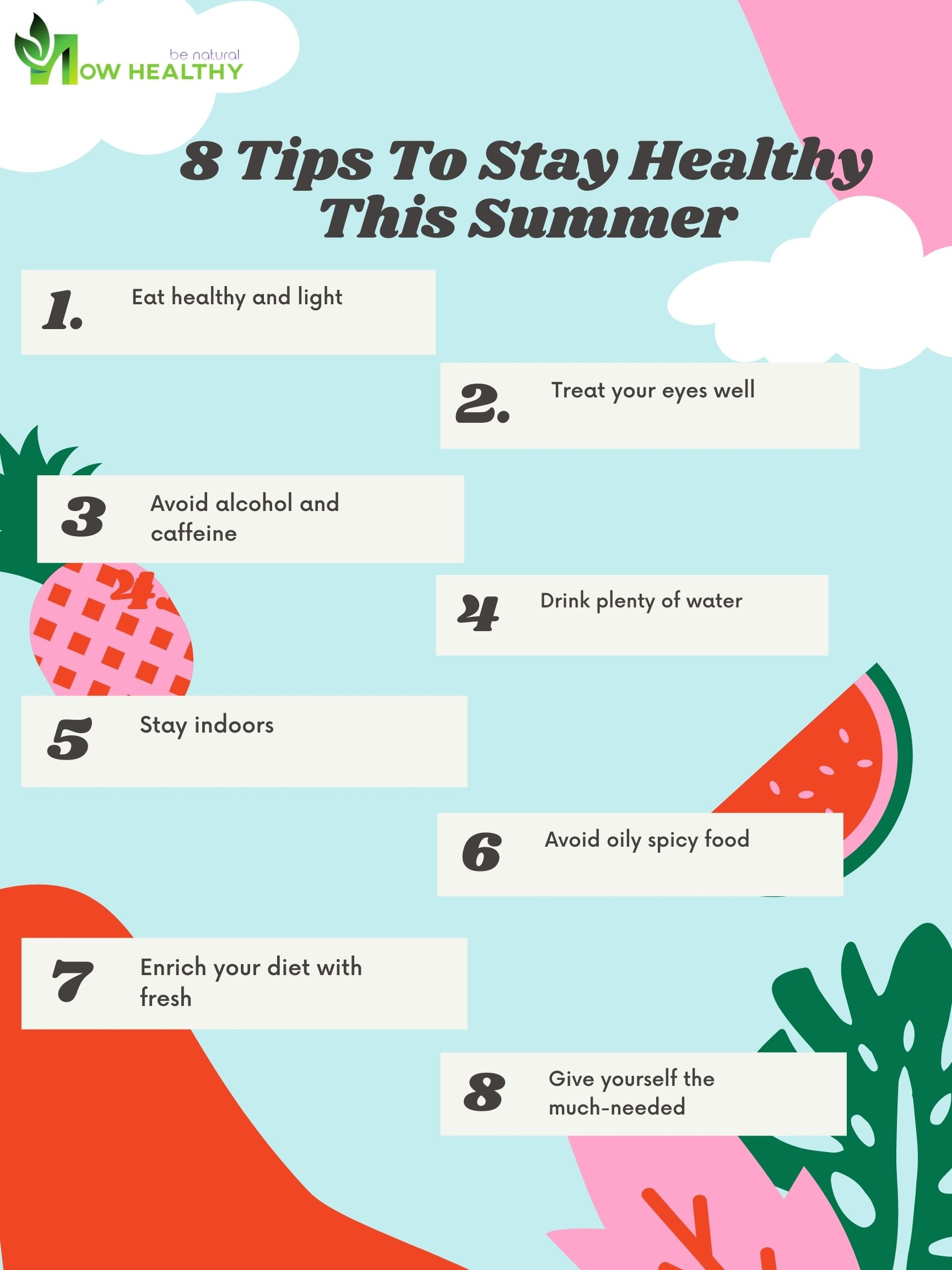 8 Tips To Stay Healthy This Summer